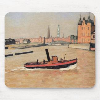 Vintage Port of Hamburg Germany Mouse Pad