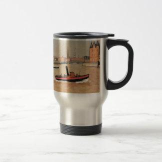 Vintage Port of Hamburg Germany Mugs