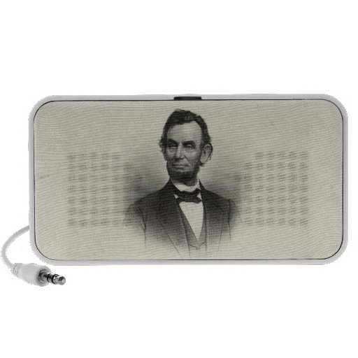 Vintage Portrait of Abraham Lincoln iPhone Speakers