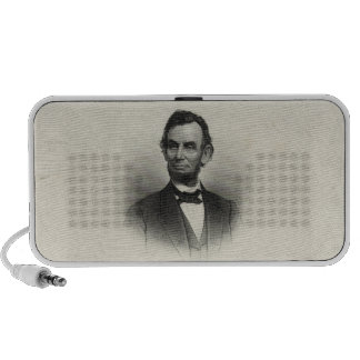 Vintage Portrait of Abraham Lincoln Travelling Speakers