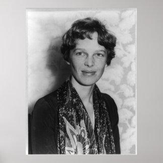 Vintage Portrait of Amelia Earhart Posters