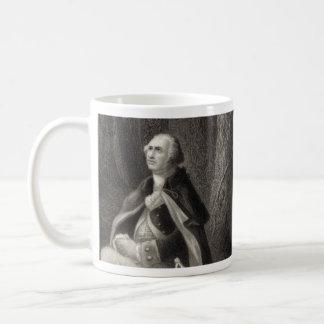 Vintage Portrait of George Washington Praying Basic White Mug