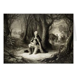 Vintage Portrait of George Washington Praying Card