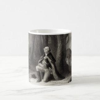 Vintage Portrait of George Washington Praying Coffee Mug