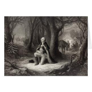 Vintage Portrait of George Washington Praying Greeting Card