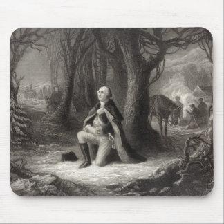 Vintage Portrait of George Washington Praying Mouse Mat