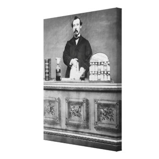 Vintage portrait of man canvas print