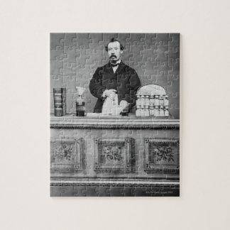 Vintage portrait of man puzzles