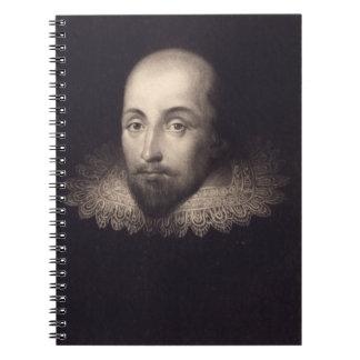 Vintage Portrait of Shakespeare Notebook