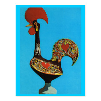 Vintage Portugal, Cockerel of Barcelos Postcard