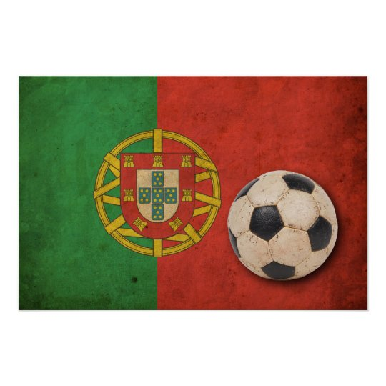 Vintage Portugal Football Poster