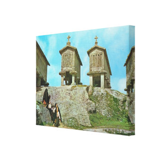 Vintage Portugal Serra del Soaja Gallery Wrapped Canvas