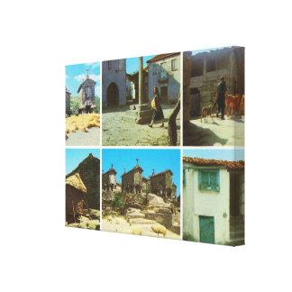 Vintage Portugal Serra del Soajo Gallery Wrap Canvas