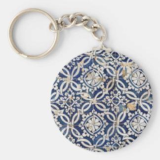 Vintage Portuguese Azulejo Key Ring