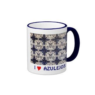Vintage portuguese azulejo coffee mugs
