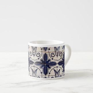 Vintage portuguese azulejo espresso cups