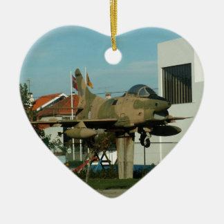 Vintage Portuguese Fighter Jet Christmas Ornament
