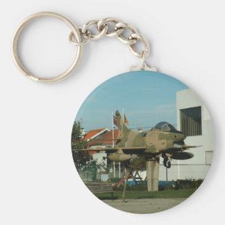 Vintage Portuguese Fighter Jet Key Ring