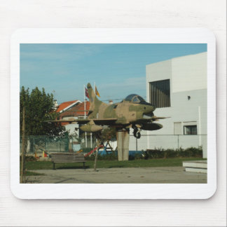 Vintage Portuguese Fighter Jet Mouse Pad