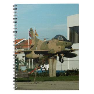 Vintage Portuguese Fighter Jet Notebook