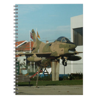 Vintage Portuguese Fighter Jet Spiral Notebook