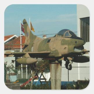 Vintage Portuguese Fighter Jet Square Sticker