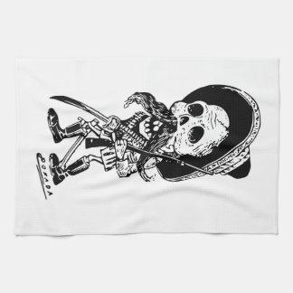 Vintage Posada Skeleton Calavera Tea Towel