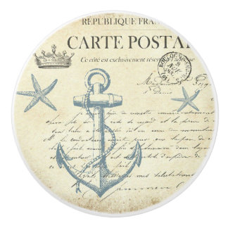 Vintage Post Card with Anchor Knob