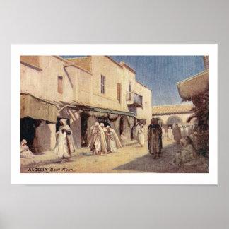 Vintage Postcard Algeria Beni Mora Poster
