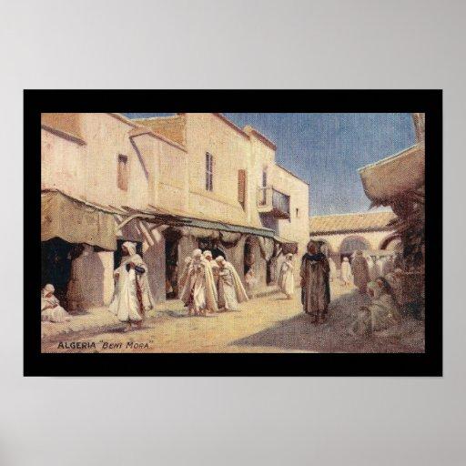 Vintage Postcard Algeria Beni Mora Print