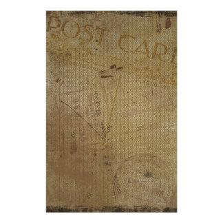 Vintage Postcard Background Journal Scrapbooking Stationery