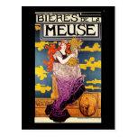 Vintage Postcard:  Bieres de la Meuse