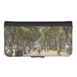 Vintage Postcard Central Park New York City iPhone 5 Wallet Case