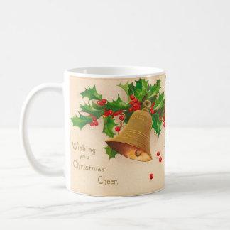"""Vintage Postcard """"CHRISTMAS CHEER"""" Basic White Mug"""