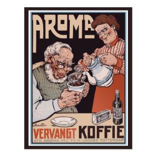 Vintage Postcard:   Coffee: Aroma Vergangt Koffie Postcard