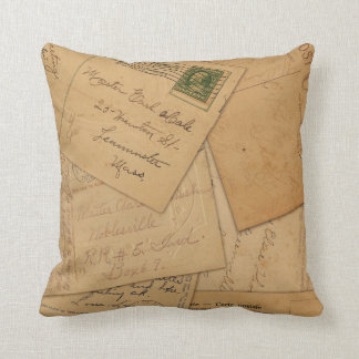 Vintage Postcard Collage Cushion