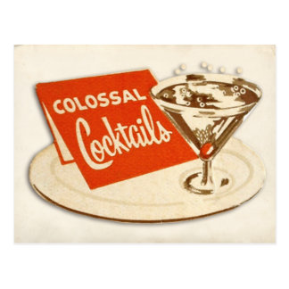 Vintage Postcard - Colossal Cocktails