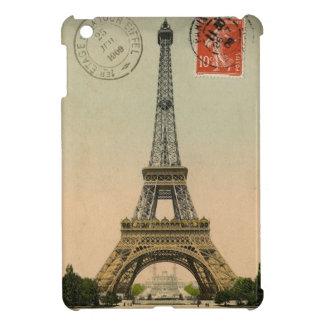 Vintage Postcard Eiffel Tower Paris iPad Mini Case