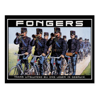 Vintage Postcard Fongers Army Bicycles
