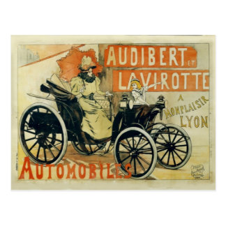 Vintage postcard French car advertisement