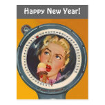Vintage Postcard Happy New Year Weight Resolution