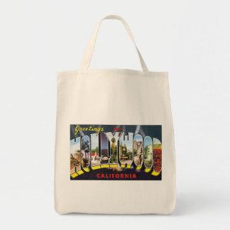 Vintage Postcard Hollywood Greetings Tote Bag