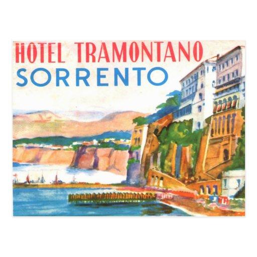 Vintage Postcard - Hotel Tramontano Sorrento Italy
