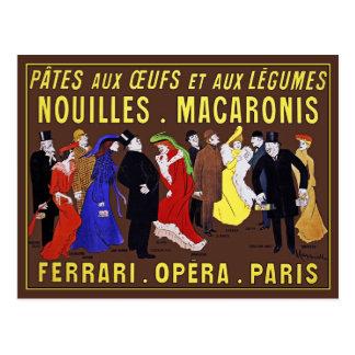 Vintage Postcard: Leonetto Cappiello - Pâtes aux O