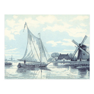 Vintage Postcard of a scene in Holland