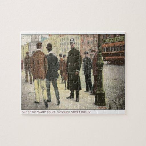 Vintage postcard of an Irish Policeman Jigsaw Puzzle