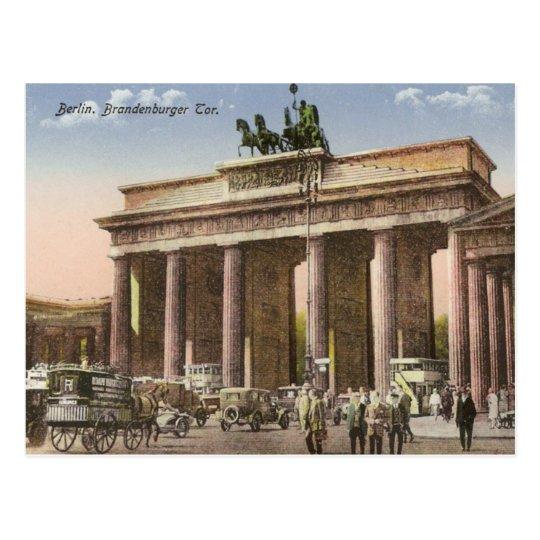 Vintage Postcard of Brandenburger Tor Berlin