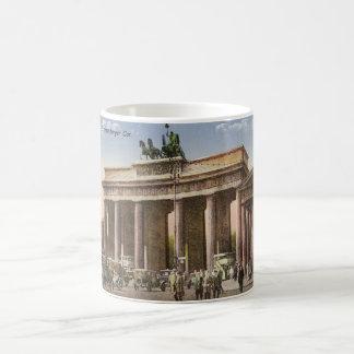 Vintage Postcard of Brandenburger Tor Berlin Basic White Mug