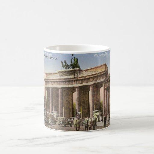 Vintage Postcard of Brandenburger Tor Berlin Coffee Mugs