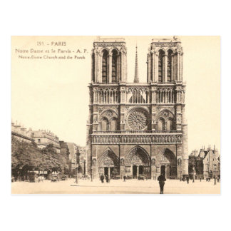 Vintage Postcard of Notre Dame in Paris